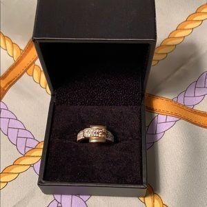 Michael Kors Astor Buckle Pave Ring